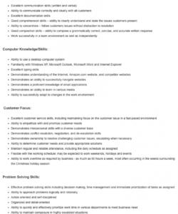 how to write a customer service job description to attract customer service job description template pdf