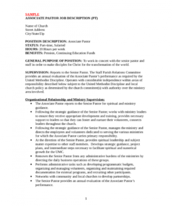 job descriptions template  edit fill sign online  handypdf senior pastor job description template