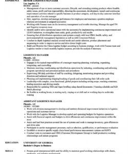 logistics manager resume samples  velvet jobs logistics manager job description template