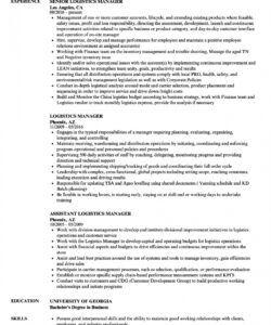 logistics manager resume samples  velvet jobs logistics manager job description template