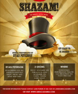 magic show logo poster magic show flyer template