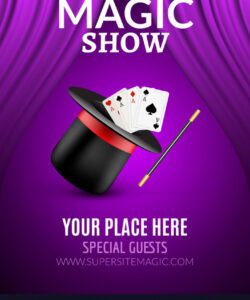 magic show poster design template magic show vector image magic show flyer template and sample