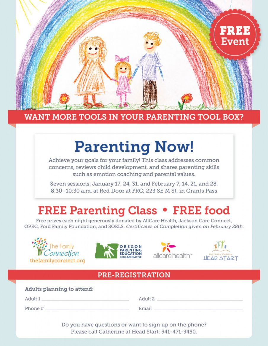 parenting class flyer template parent workshop flyer template doc