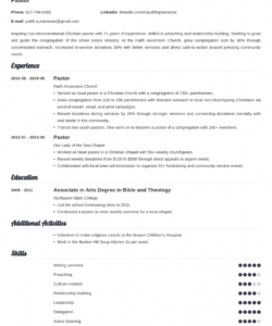 pastor resume template guide & 20 examples senior pastor job description template and sample
