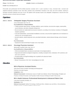 physician assistant resume examples & complete guide [20 tips] physician assistant job description template doc