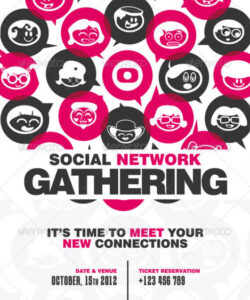 social network gathering flyer networking event flyer template doc