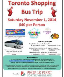 toronto shopping bus trip  community living campbellford bus ride flyer template pdf
