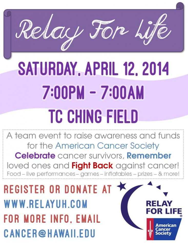 uh manoa campus events calendar relay for life fundraiser flyer template doc