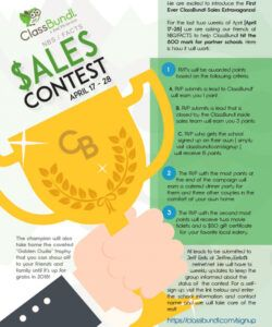 Best Sales Contest Flyer Template Pdf