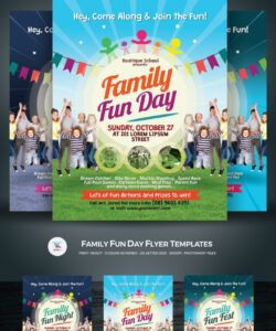 Costum Family Day Flyer Template  Example