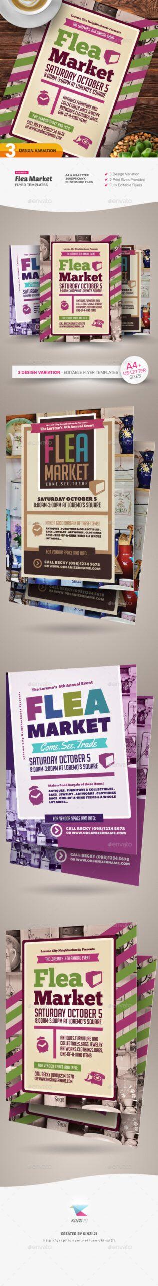 Costum Flea Market Flyer Template Excel Example