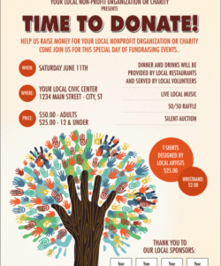 Costum Raffle Fundraiser Flyer Template  Sample