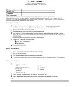 Editable Employee Termination Checklist Template Pdf