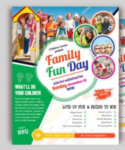 Editable Family Day Flyer Template Pdf