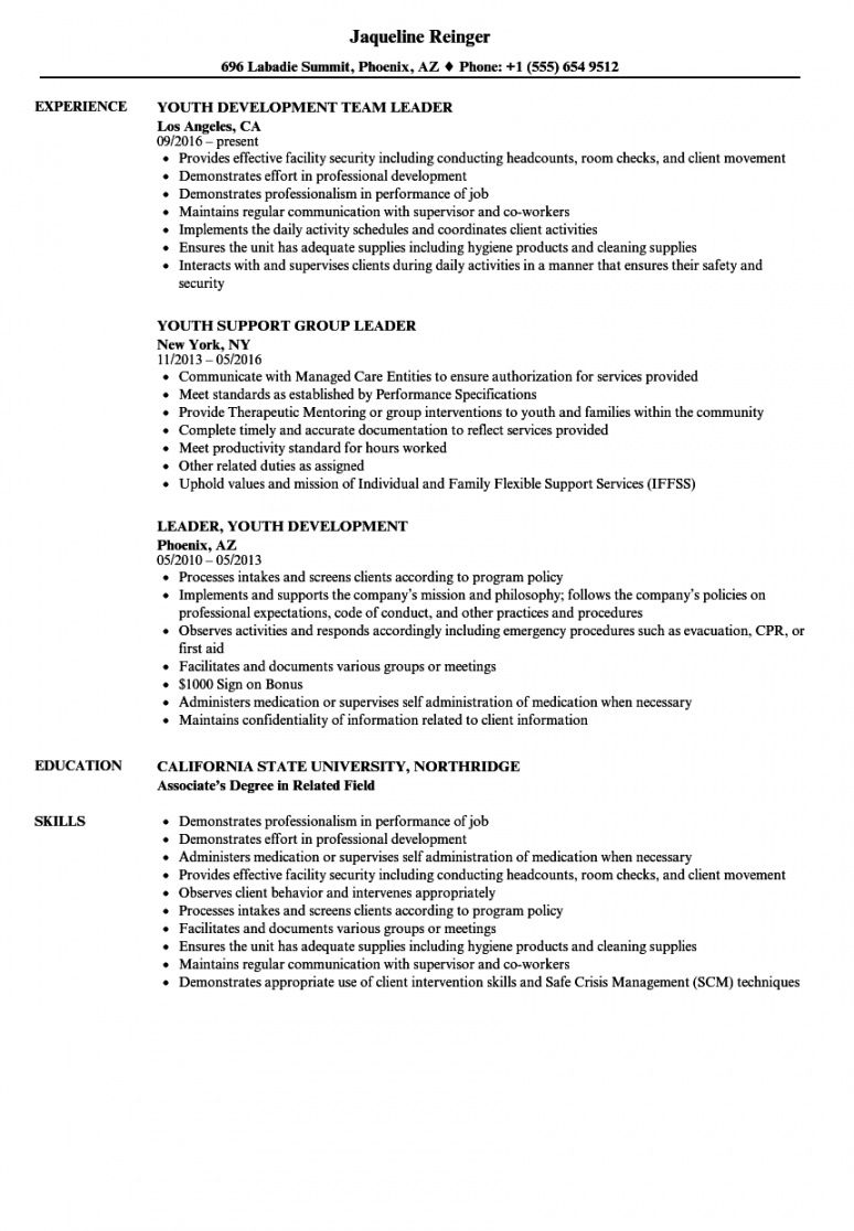 Editable Youth Worker Job Description Template Pdf Sample