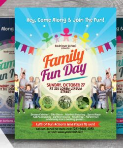 Family Day Flyer Template  Example