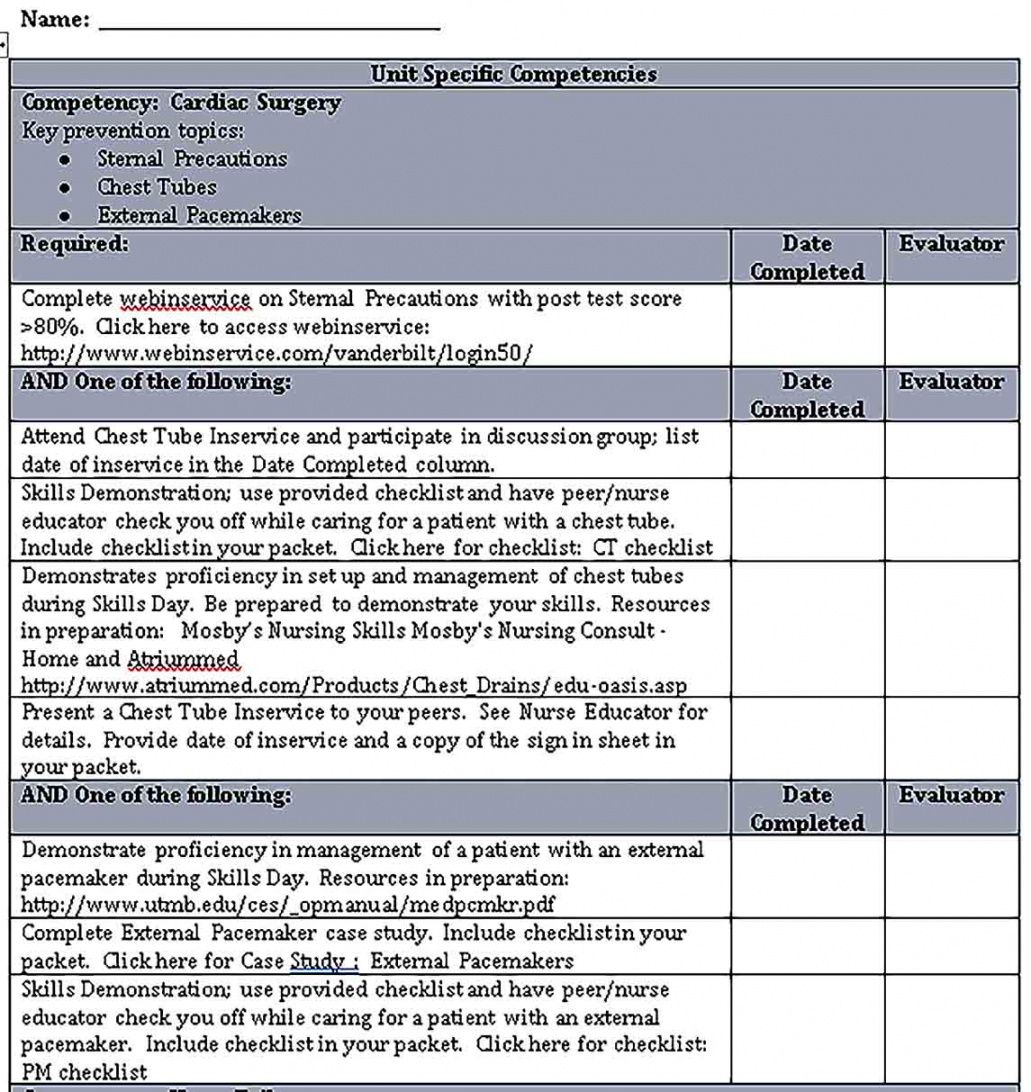 Free Competency Checklist Template Excel