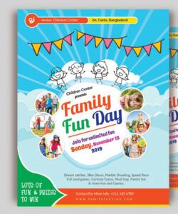 Free Family Day Flyer Template Excel Sample