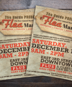 Free Flea Market Flyer Template Word