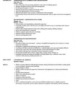 Free Reception Job Description Template  Sample