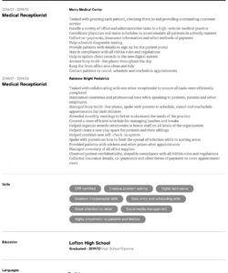 Medical Receptionist Job Description Template Pdf Example