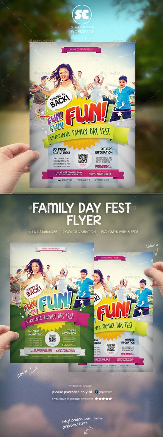 Printable Family Day Flyer Template Doc