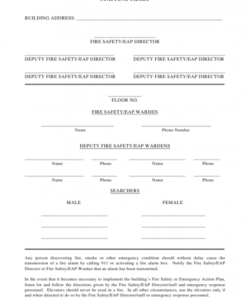 Printable Fire Drill Checklist Template  Sample