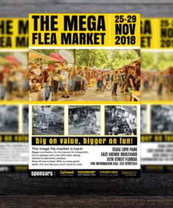 Printable Flea Market Flyer Template Pdf Sample