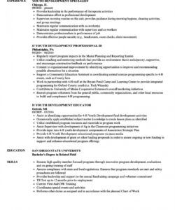 Printable Youth Worker Job Description Template Word Sample