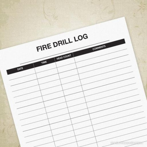 Professional Fire Drill Checklist Template Excel Example