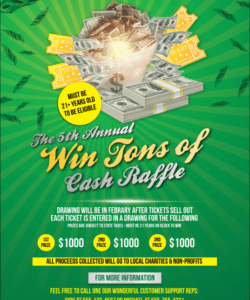 Professional Raffle Fundraiser Flyer Template Pdf