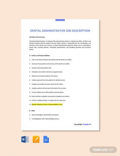 Best Admin Job Description Template Pdf Sample