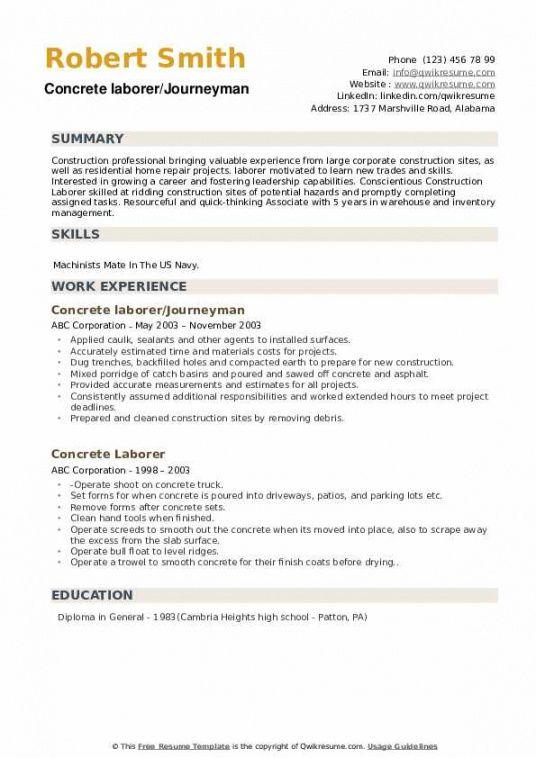 Best General Laborer Job Description Template  Example