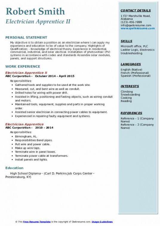 Costum Electrician Job Description Template Pdf Sample