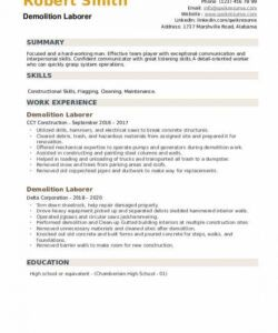 Costum General Laborer Job Description Template  Example