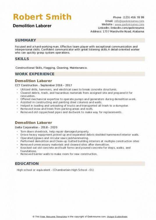 Costum General Laborer Job Description Template  Example