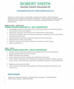 Costum Nursery Manager Job Description Template Doc Example