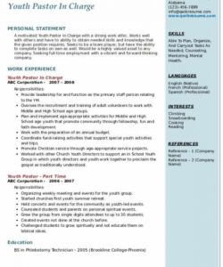 Editable Ministry Job Description Template Excel Sample