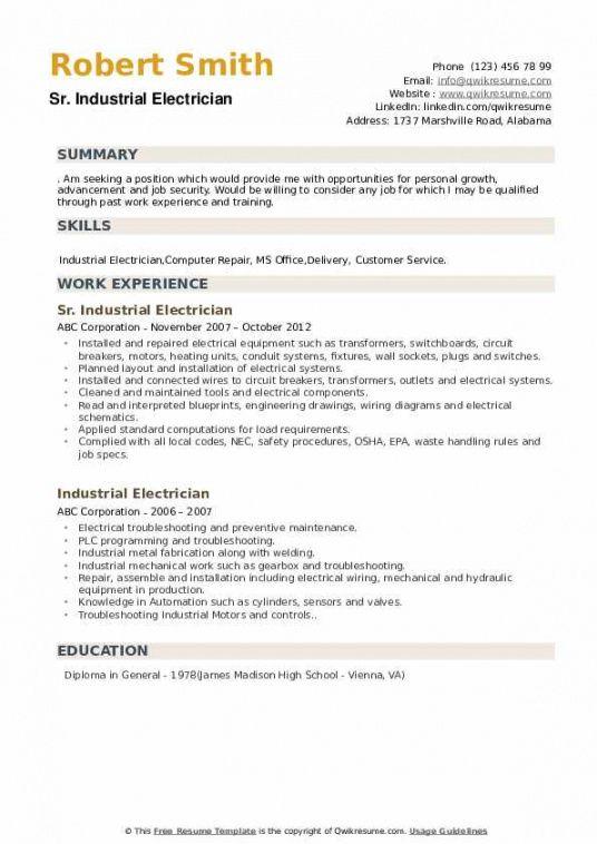 Free Electrician Job Description Template  Example