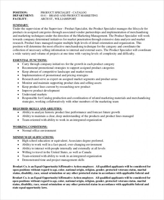 Free Marketing Manager Job Description Template Doc