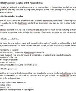 Free Nursery Manager Job Description Template Pdf Example