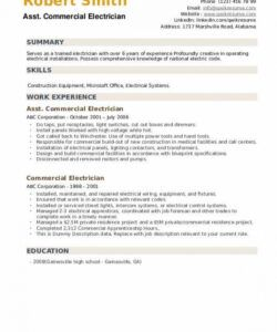 Printable Electrician Job Description Template Pdf