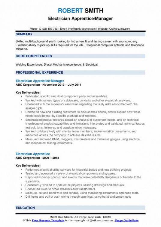 Printable Electrician Job Description Template Pdf Example