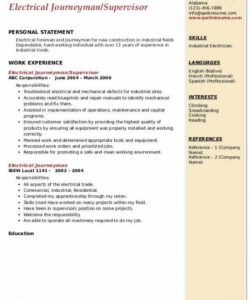 Printable Electrician Job Description Template Word Example