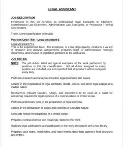 Printable Functional Job Description Template Doc