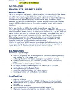 Best Account Manager Job Description Template Word Example