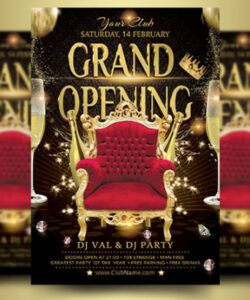 Best Grand Opening Flyer Template Excel Sample