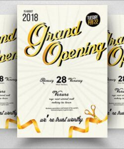 Best Grand Opening Flyer Template Word