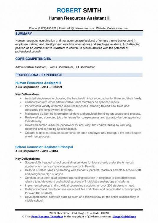 Best Human Resources Assistant Job Description Template  Example