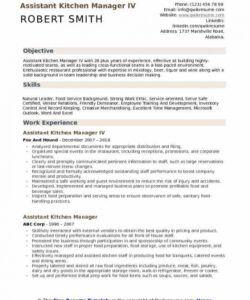 Best Kitchen Manager Job Description Template Word